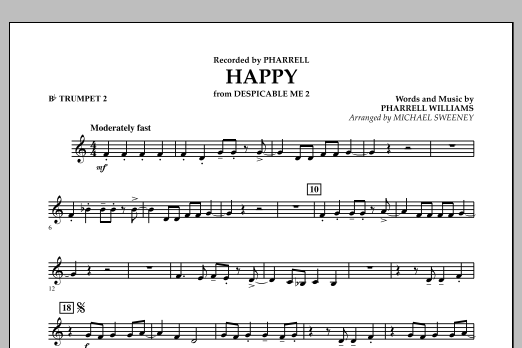 Happy (from Despicable Me 2) - Bb Trumpet 2 (Concert Band)