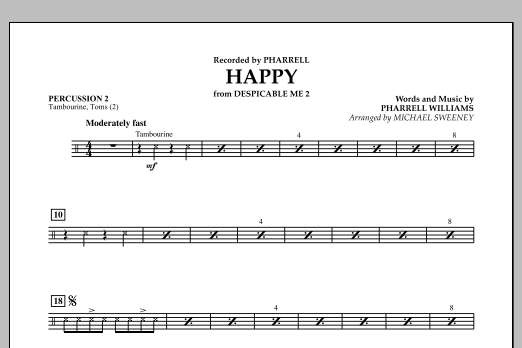 Happy (from Despicable Me 2) - Percussion 2 (Concert Band)