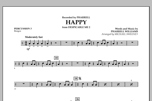 Happy (from Despicable Me 2) - Percussion 3 (Concert Band)