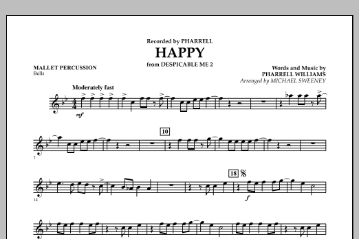Happy (from Despicable Me 2) - Mallet Percussion (Concert Band)