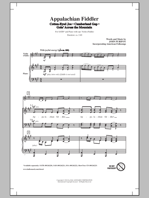 Appalachian Fiddler (Medley) Sheet Music