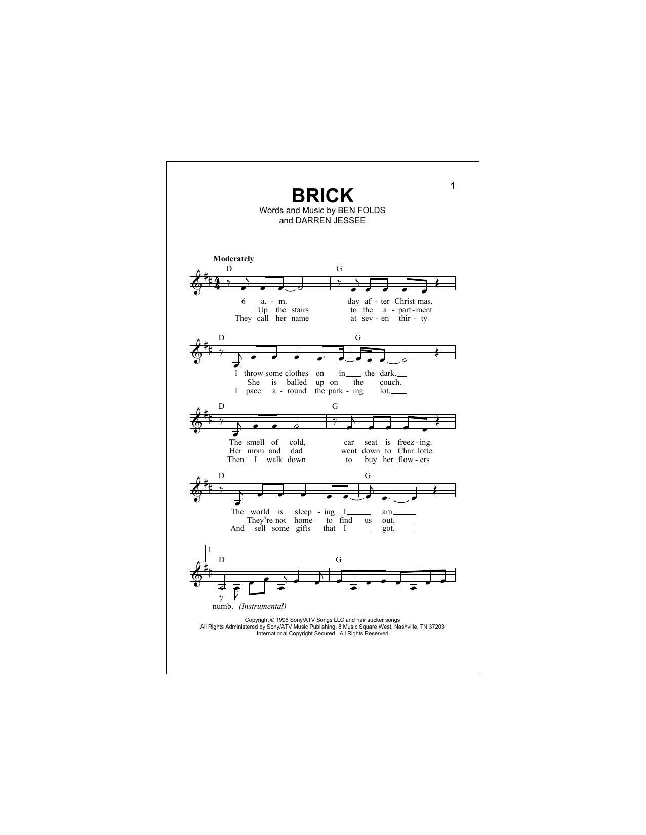 Brick (Lead Sheet / Fake Book)