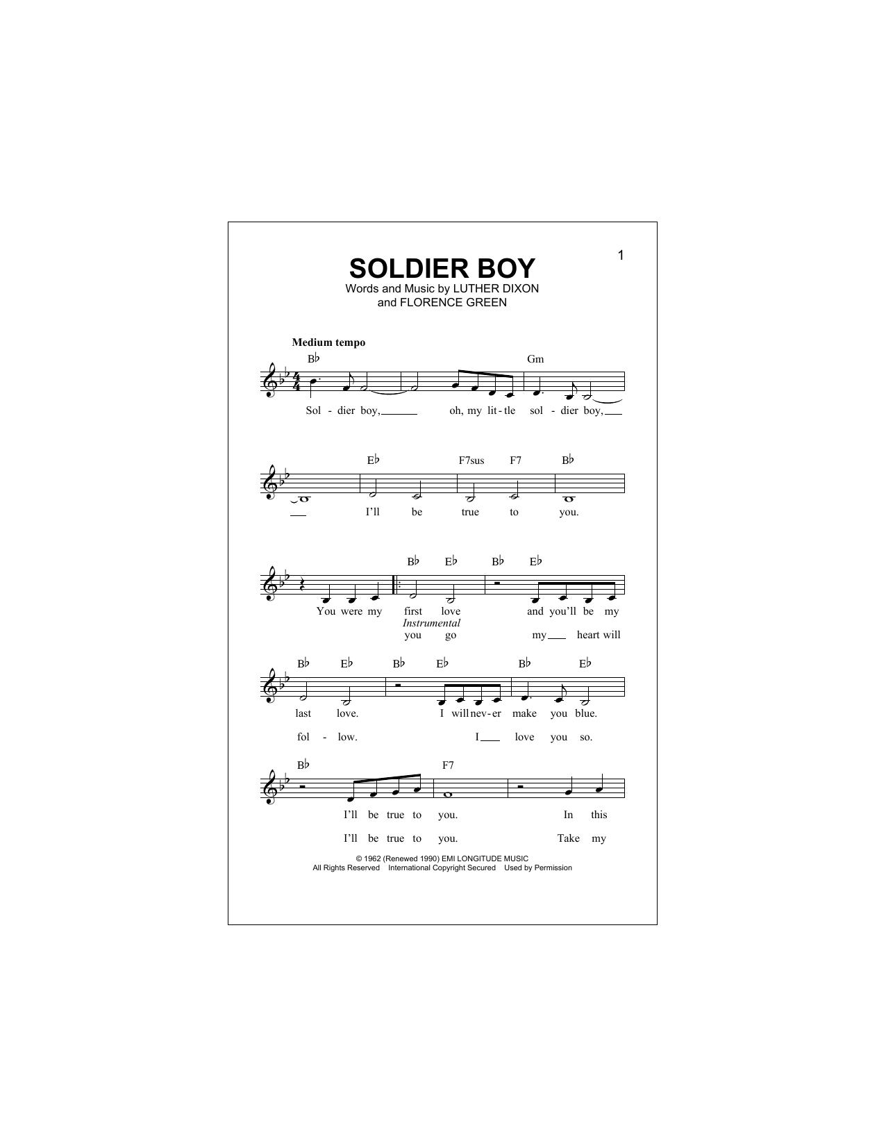 Soldier Boy (Lead Sheet / Fake Book)