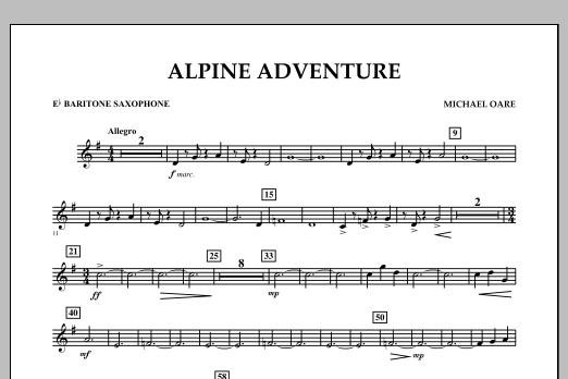 Alpine Adventure - Eb Baritone Saxophone (Concert Band)