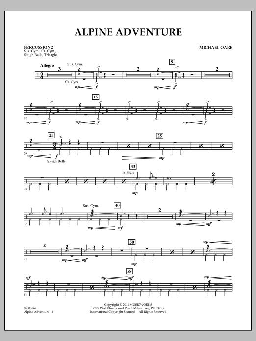 Alpine Adventure - Percussion 2 (Concert Band)