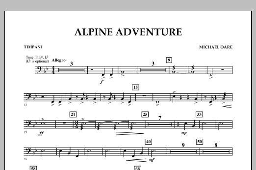 page one of Alpine Adventure - TimpaniASALTTEXT