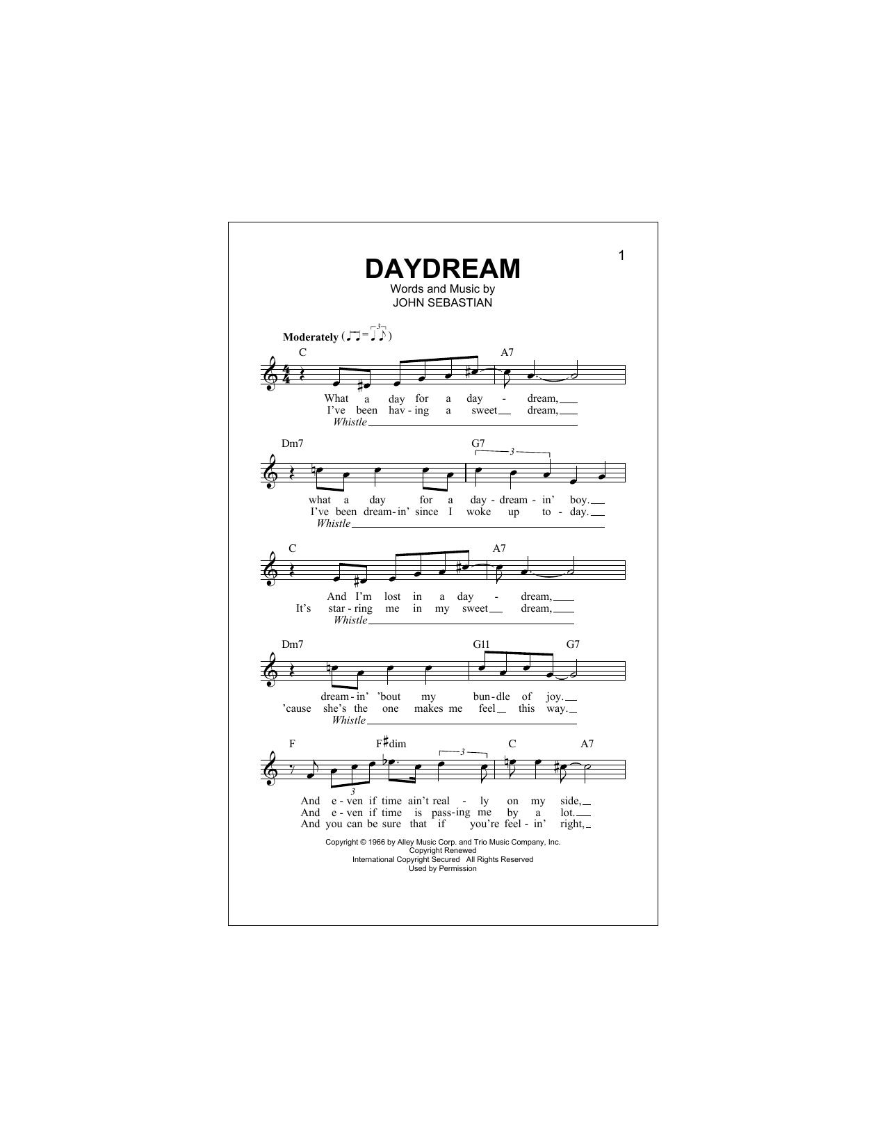 Daydream (Lead Sheet / Fake Book)