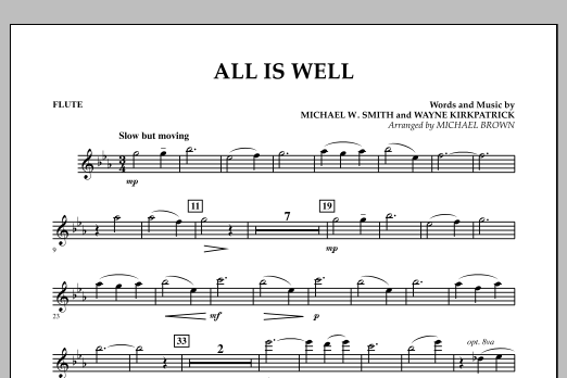 All Is Well - Flute (Concert Band)