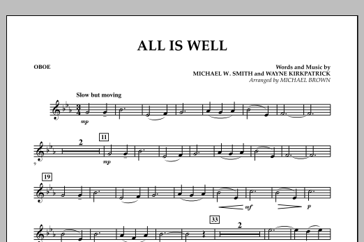 All Is Well - Oboe (Concert Band)