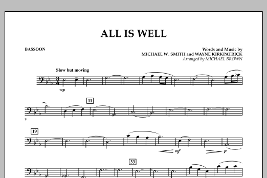 All Is Well - Bassoon (Concert Band)