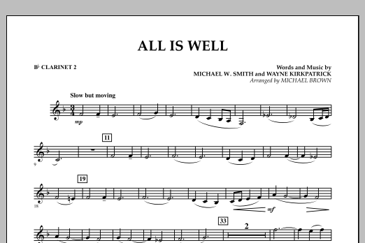 All Is Well - Bb Clarinet 2 (Concert Band)