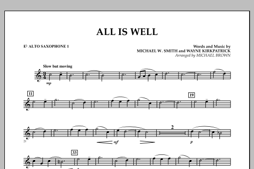 All Is Well - Eb Alto Saxophone 1 (Concert Band)