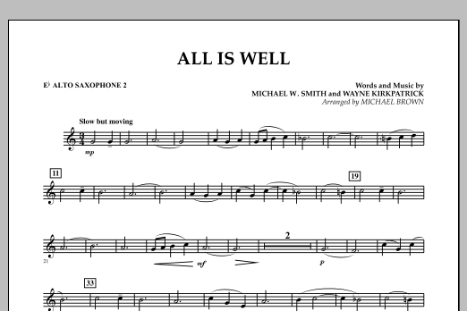 All Is Well - Eb Alto Saxophone 2 (Concert Band)
