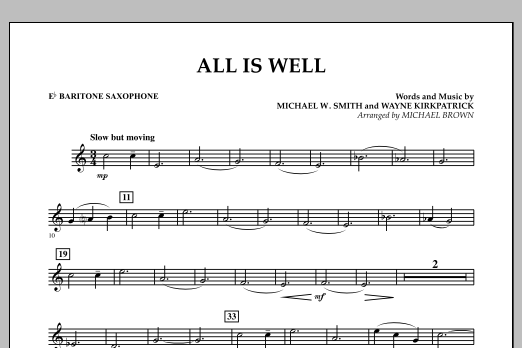 All Is Well - Eb Baritone Saxophone (Concert Band)