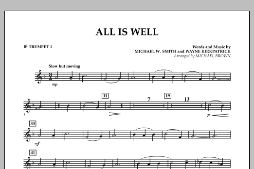 All Is Well - Bb Trumpet 1 (Concert Band)