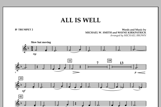 All Is Well - Bb Trumpet 2 (Concert Band)