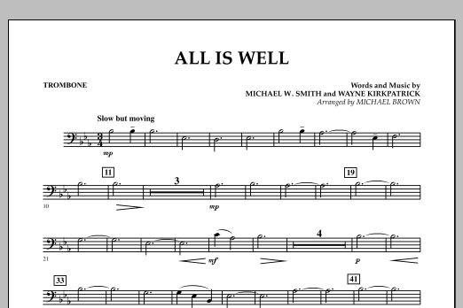 All Is Well - Trombone (Concert Band)