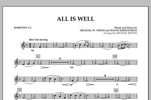 All Is Well - Baritone T.C. (Concert Band)