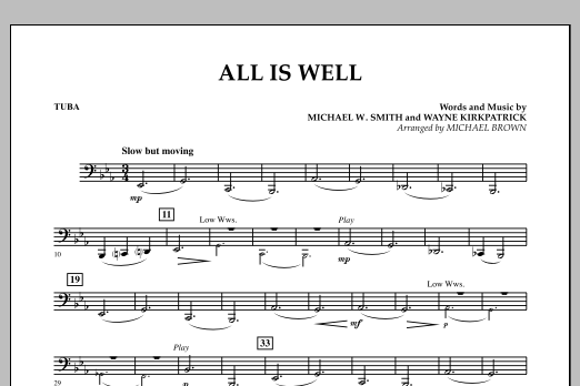 All Is Well - Tuba (Concert Band)
