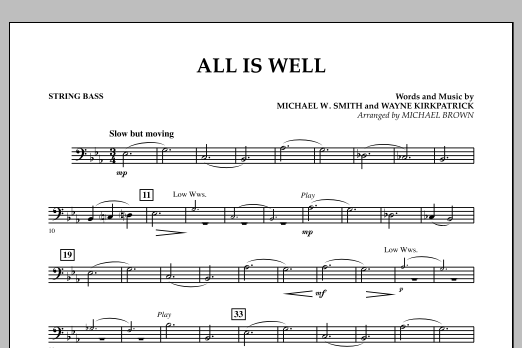 All Is Well - Bass (Concert Band)