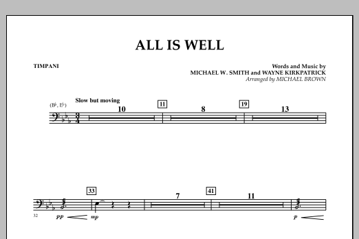 All Is Well - Timpani (Concert Band)