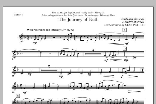 The Journey of Faith - Bb Clarinet 1 (Choir Instrumental Pak)