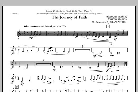 The Journey of Faith - Bb Clarinet 2 (Choir Instrumental Pak)