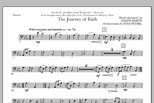 The Journey of Faith - Bassoon (Choir Instrumental Pak)