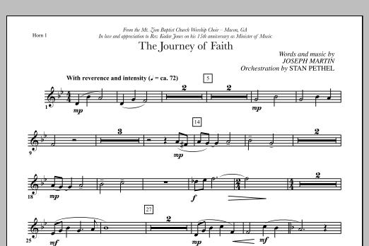 The Journey of Faith - F Horn 1 (Choir Instrumental Pak)