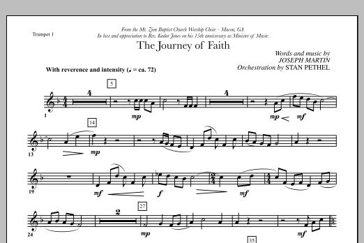 The Journey of Faith - Bb Trumpet 1 (Choir Instrumental Pak)