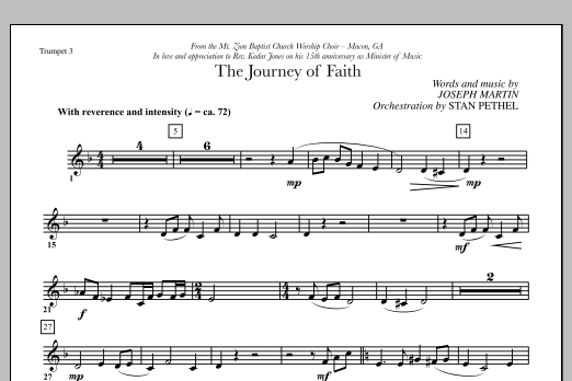The Journey of Faith - Bb Trumpet 3 (Choir Instrumental Pak)