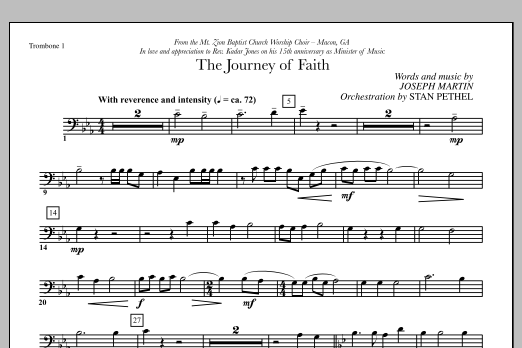 The Journey of Faith - Trombone 1 (Choir Instrumental Pak)