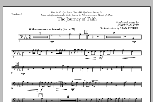 The Journey of Faith - Trombone 2 (Choir Instrumental Pak)