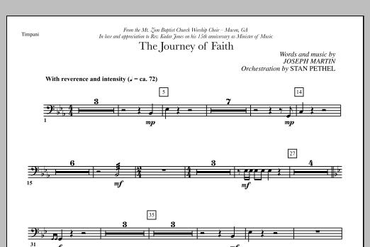 The Journey of Faith - Timpani (Choir Instrumental Pak)
