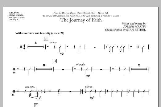 The Journey of Faith - Aux Percussion (Choir Instrumental Pak)