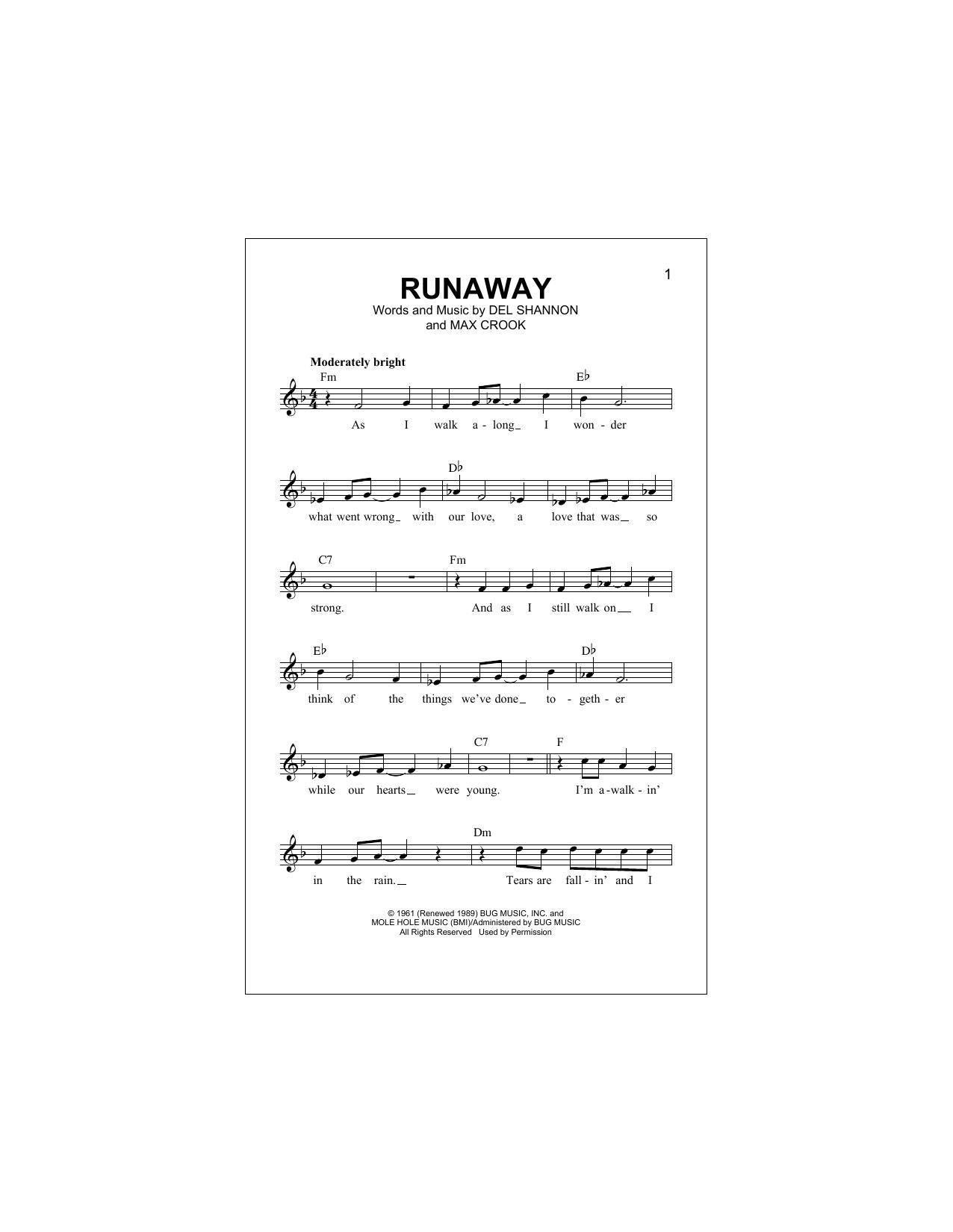 Runaway (Lead Sheet / Fake Book)