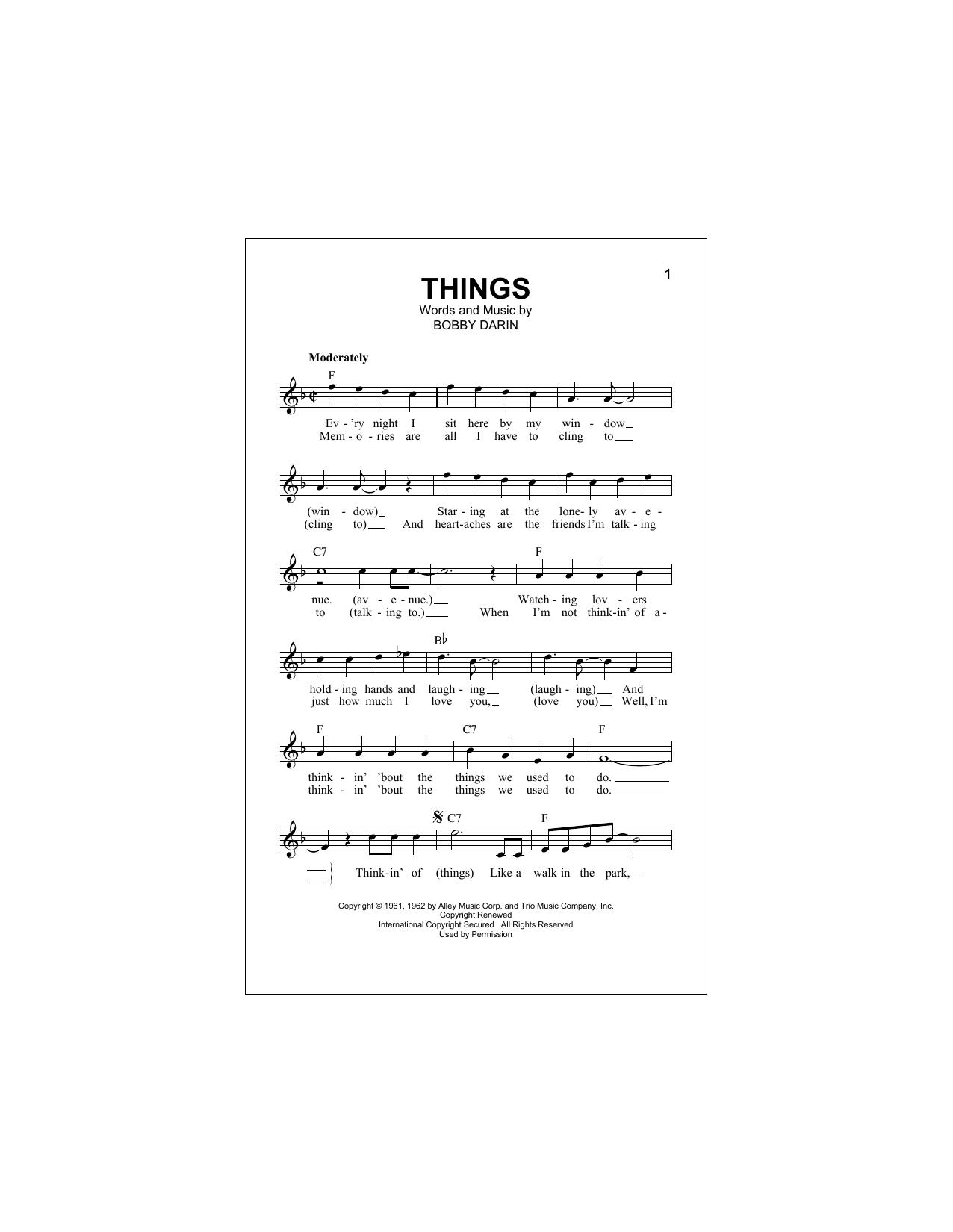 Things Sheet Music