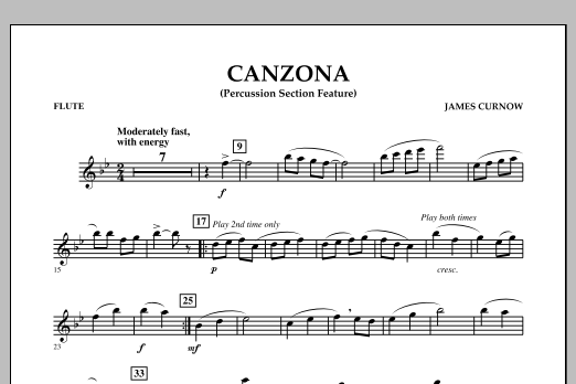Canzona - Flute (Concert Band)