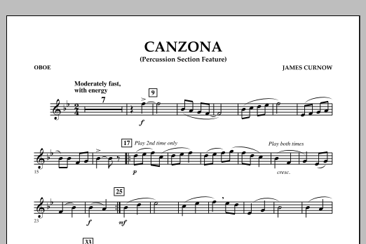 Canzona - Oboe (Concert Band)
