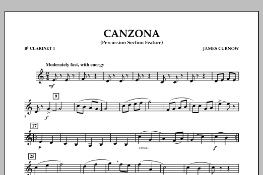 Canzona - Bb Clarinet 1 (Concert Band)