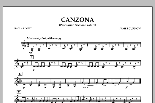 Canzona - Bb Clarinet 2 (Concert Band)