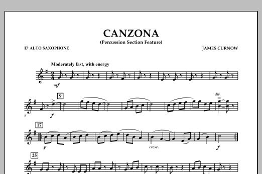 Canzona - Eb Alto Saxophone (Concert Band)