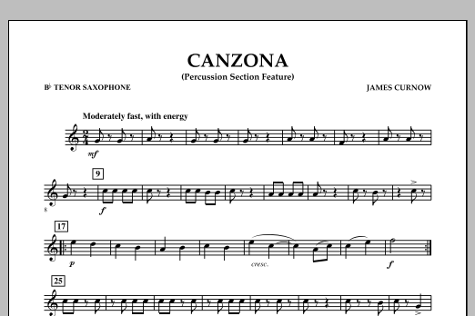 Canzona - Bb Tenor Saxophone (Concert Band)