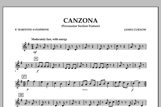 Canzona - Eb Baritone Saxophone (Concert Band)
