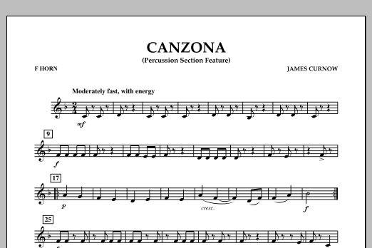 Canzona - F Horn (Concert Band)