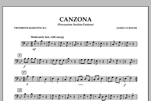 Canzona - Trombone/Baritone B.C. (Concert Band)