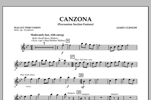 Canzona - Mallet Percussion (Concert Band)