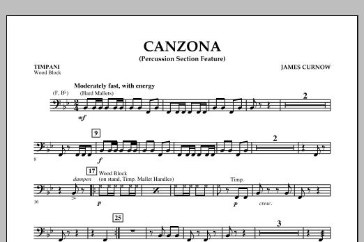 Canzona - Timpani (Concert Band)