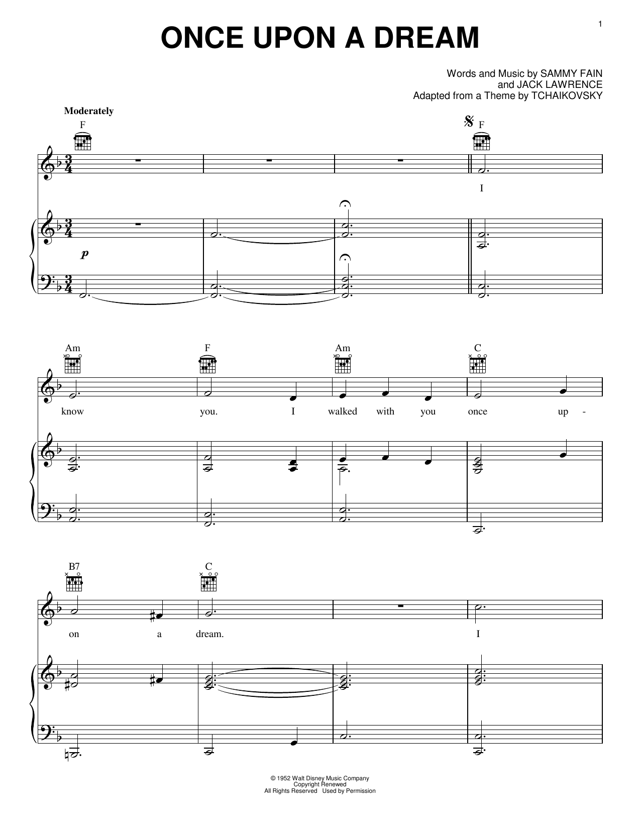 Once Upon A Dream Sheet Music