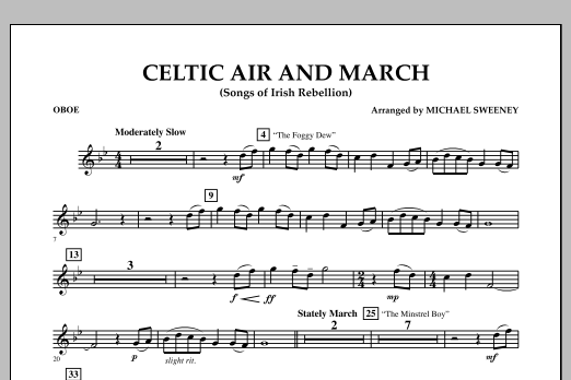 Celtic Air and March (Songs of Irish Rebellion) - Oboe (Concert Band)
